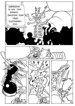 Earth Worm Jim Issue 2 Page 3 © Wizards Keep