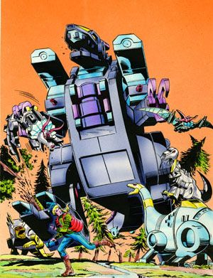 Transformers Dinobot Cover - Herb Trimpe and Tim Perkins