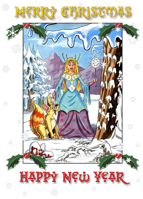Snow Princess Christmas Card