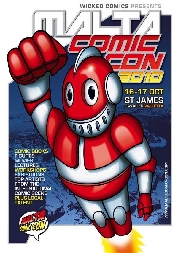 MaltaComicCon2 Flier 2010
