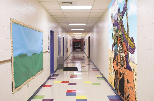 Mural Artz School Corridor after