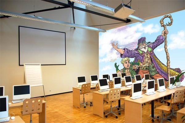 Mural Artz School Computer Classroom after
