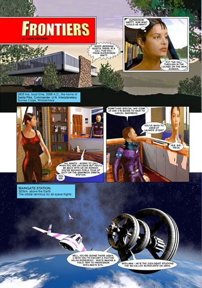 John Ridgway art for Frontiers
