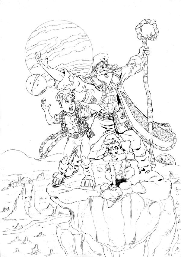 Worlds End Ashcan Back Cover - Pencils